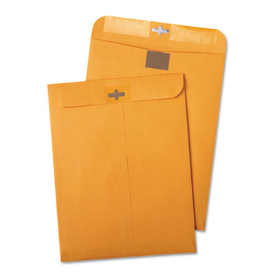 Postage Saving ClearClasp Kraft Envelopes, 9 x 12, Brown Kraft,