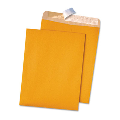 100% Recycled Brown Kraft Redi-Strip Envelope, 9 x 12, Brown Kra