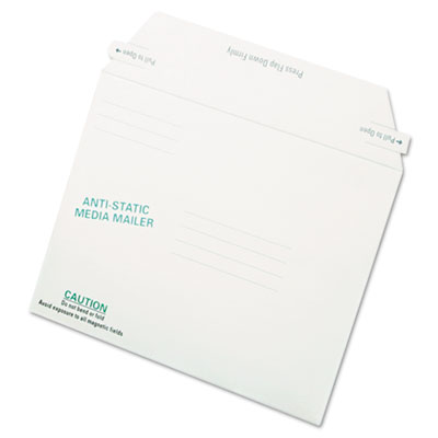 Antistatic Fiberboard Disk Mailer, 6 x 8 5/8, White, Recycled, 2