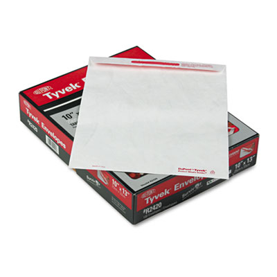 Advantage Flap-Stik Tyvek Mailer, Side Seam, 10 x 13, White, 100