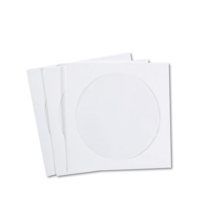 CD/DVD Sleeves, Tyvek, 100/Box