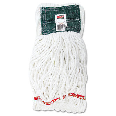 Web Foot Shrinkless Looped-End Wet Mop Head, Cotton/Synthetic, M