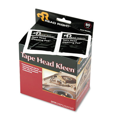 Tape Head Kleen Pad, Individually Sealed Pads, 5 x 5, 80/Box