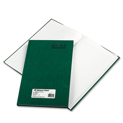 Emerald Series Account Book, Green Cover, 150 Pages, 12 1/4 x 7