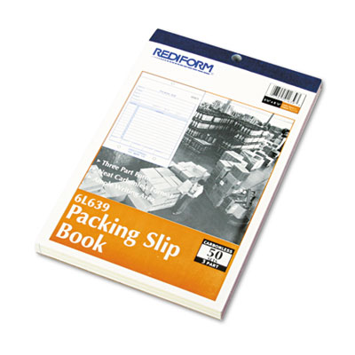 Packing Slip Book, 5 1/2 x 7 7/8, Carbonless Triplicate, 50 Sets