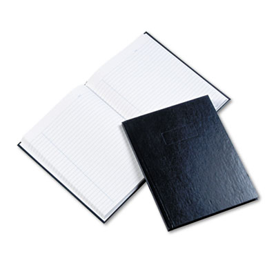Business Notebook w/Blue Cover, College Rule, 9-1/4 x 7-1/4, 192