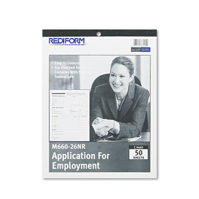 Employment Application, 8 1/2 x 11, 50 Forms