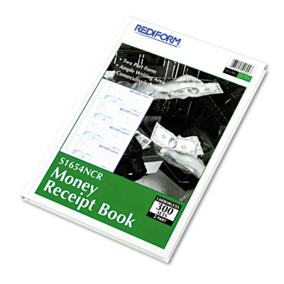 Hardcover Numbered Money Receipt Book, 2 3/4 x 6-7/8, Two-Part,