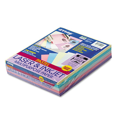 Array Colored Bond Paper, 20lb, 8-1/2 x 11, Assorted Pastels, 50