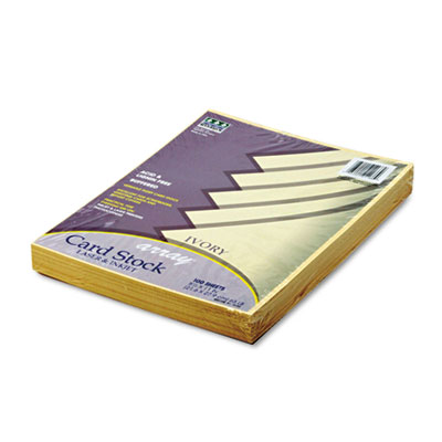 Array Card Stock, 65 lbs., Letter, Ivory, 100 Sheets/Pack