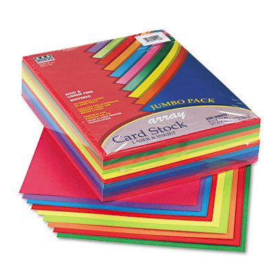 Array Card Stock, 65 lbs., Letter, Assorted Lively Colors, 250 S