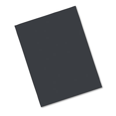 Riverside Construction Paper, 76 lbs., 18 x 24, Black, 50 Sheets