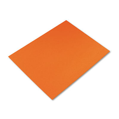 Colored Four-Ply Poster Board, 28 x 22, Orange, 25/Carton