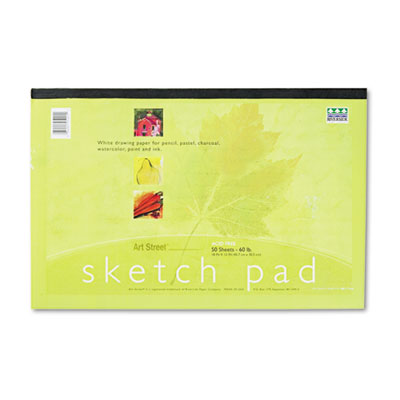 Art1st Sketch Pad, 18 x 12, White, 50 Sheets