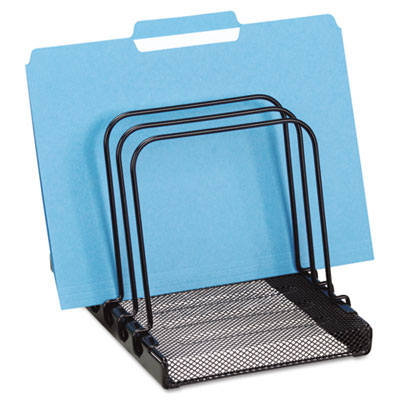 Mesh Flip File Folder Sorter, Five Sections, Black, 7 4/5 x 1 7/