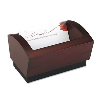 Executive Woodline II Business Card Holder for 100 2 1/4 x 4 Car