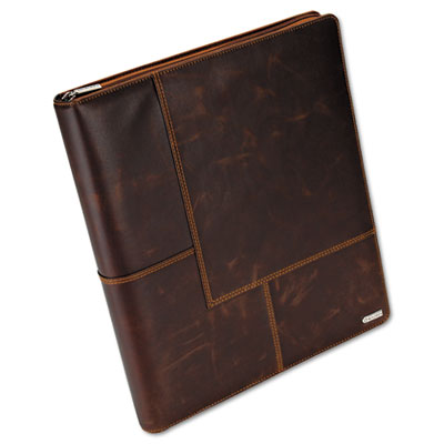 Explorer Leather Organizer Business Card Book, 240-Card Cap., 11