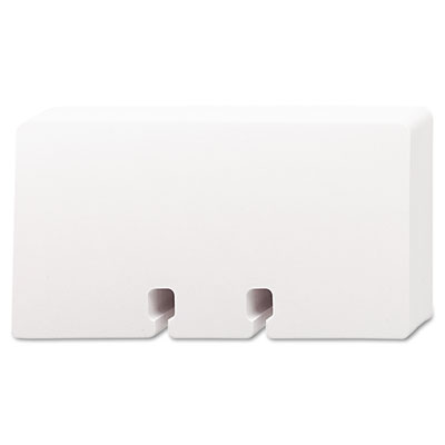 Plain Unruled Refill Card, 2 1/4 x 4, White, 100 Cards/Pack