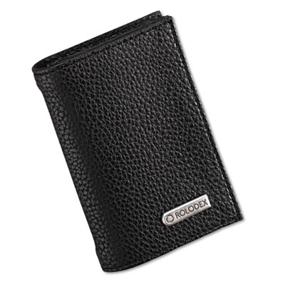 Low Profile Personal Card Case, 36-Card Capacity, 2 3/4 x 4, Bla