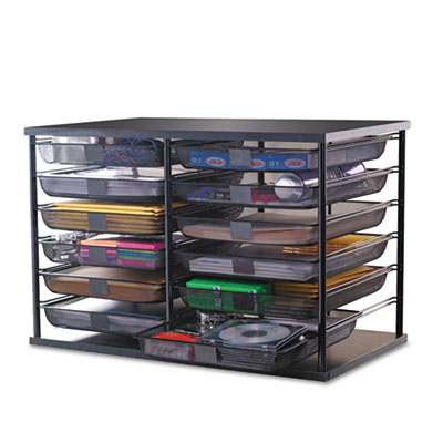 "12-Compartment Organizer with Mesh Drawers, 23 4/5"" x 15 9/10"" x"