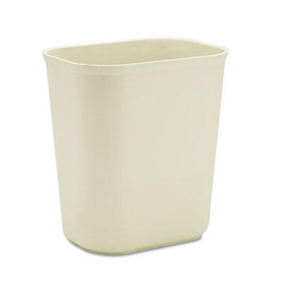 Fire-Resistant Wastebasket, Rectangular, Fiberglass, 3.5gal, Bei
