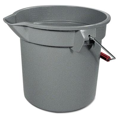 "14 Quart Round Utility Bucket, 12"" Diameter x 11 1/4""h, Gray Pla"