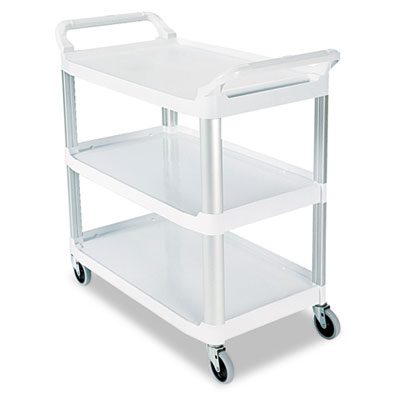 Open Sided Utility Cart, Three-Shelf, 40-5/8w x 20d x 37-13/16h,