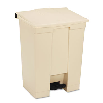 Fire-Safe Step-On Receptacle, Rectangular, Polyethylene, 18gal,