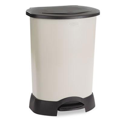 Step-On Container, Oval, Polyethylene, 30gal, Light Platinum