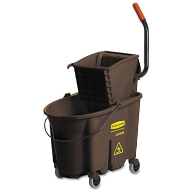 Wavebrake 35 Quart Bucket/Wringer Combinations, Brown