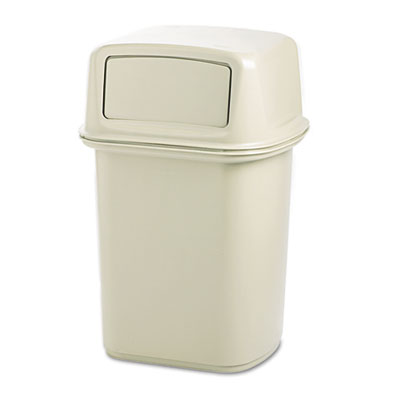 Ranger Fire-Safe Container, Square, Structural Foam, 45gal, Beig