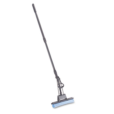 PVA Sponge Mop w/Wringer Lever, 12w, Blue Head