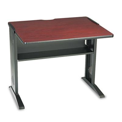 Computer Desk W/ Reversible Top, 35-1/2w x 28d x 30h, Mahogany/M