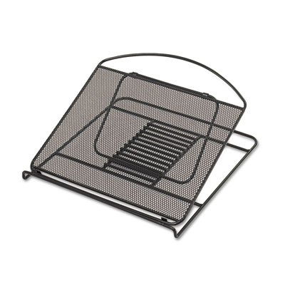 Onyx Adjustable Steel Mesh Laptop Stand, 12 1/4 x 12 1/4 x 1, Bl