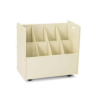 Laminate Mobile Roll Files, Eight Compartments, 30-1/8 x 15-3/4