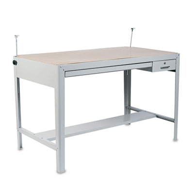 Precision Four-Post Drafting Table Base, 56-1/2w x 30-1/2d x 35-