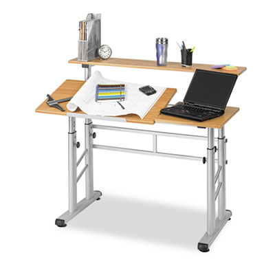 Adjustable Split Level Workstation, 47-1/4w x 29-3/4d x 37-1/4h,