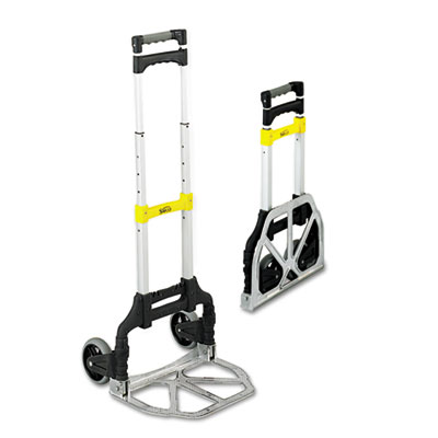 Stow & Go Cart, 110lb Capacity, 15 1/4w x 16d x 39h, Aluminum
