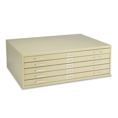 Five-Drawer Steel Flat File, 46