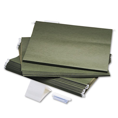Hanging File Folders, Compressed Paper Fiber, 18 x 14, Green, 25