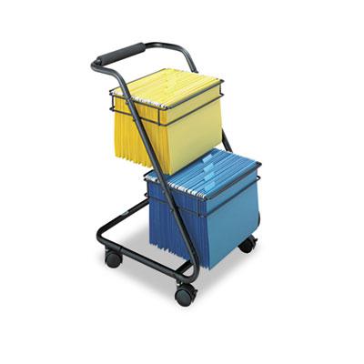 Jazz Two-Tier File Cart, 15-3/4w x 19d x 28h, Black