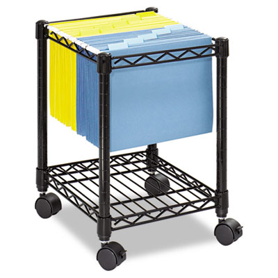 Compact Mobile Wire File Cart, One-Shelf, 15-1/2w x 14d x 19-3/4
