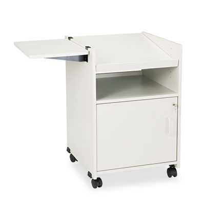 Economy Mobile Computer/Projector Stand, Two-Shelf, 19-1/2 x 20-