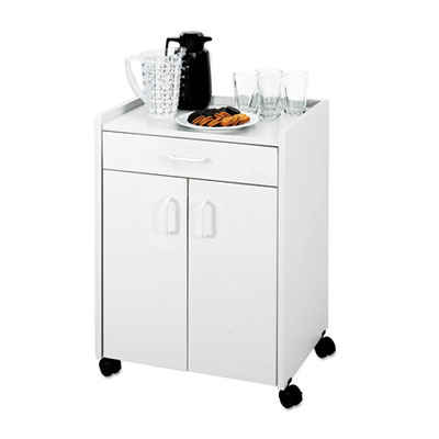 Mobile Refreshment Center, One-Shelf, 23w x 18d x 31h, Gray