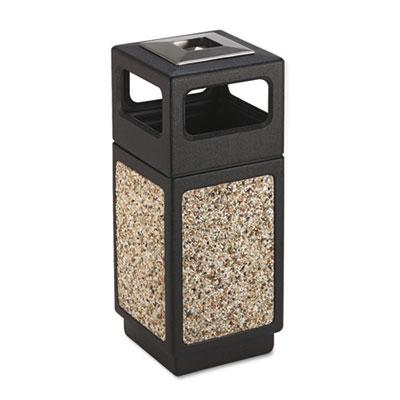 Canmeleon Ash/Trash Receptacle, Square, Aggregate/Polyethylene,