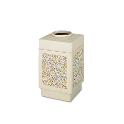 Canmeleon Top-Open Receptacle, Square, Aggregate/Polyethylene, 3