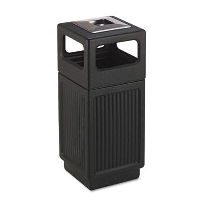 Canmeleon Ash/Trash Receptacle, Square, Polyethylene, 15gal, Tex