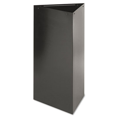 "Trifecta Receptacle 34"" High Base, Triangular, 19gal, Black"