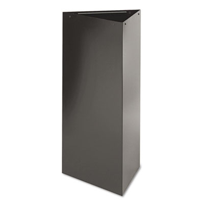 "Trifecta Receptacle 38"" High Base, Triangular, 21gal, Black"