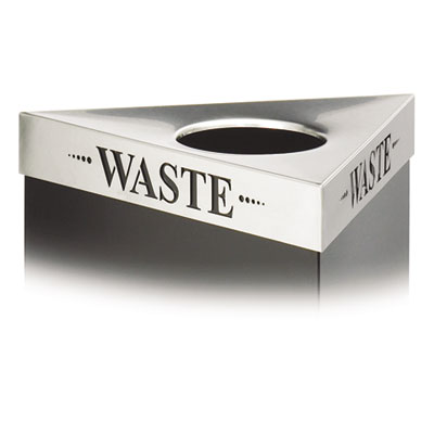 "Trifecta Waste Receptacle Lid, Laser Cut ""WASTE"" Inscription, St"